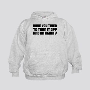 Turn it off and on again! Kids Hoodie