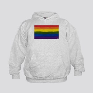 GAY PRIDE RAINBOW FLAG PAINT ART SIGNE Kids Hoodie