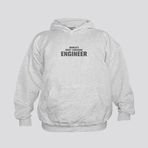 WORLDS MOST AWESOME Engineer-Akz gray 500 Hoodie