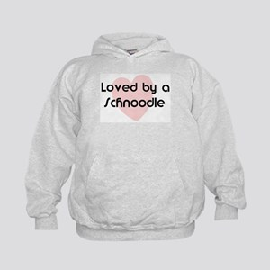 Loved by a Schnoodle Kids Hoodie