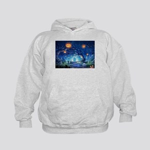 Halloween Night In Cemetery Hoody