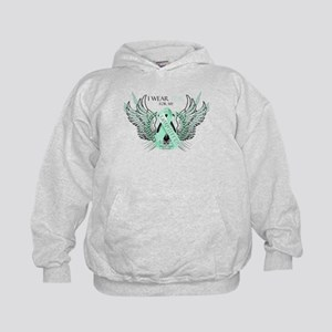 I Wear Teal for my Daughter Kids Hoodie
