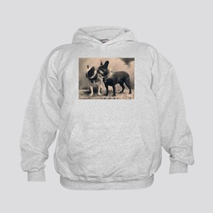 French Bulldog Eliz. Pair Kids Hoodie