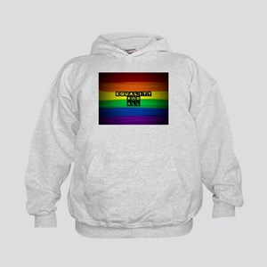Equality for all . Rainbow art Kids Hoodie