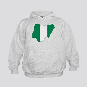 Nigeria Flag and Map Kids Hoodie