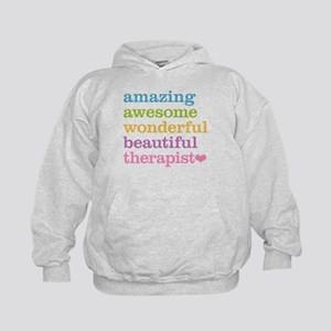 Awesome Therapist Kids Hoodie
