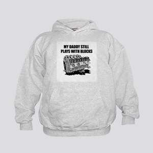 My Daddy Plays w/Blocks Kids Hoodie