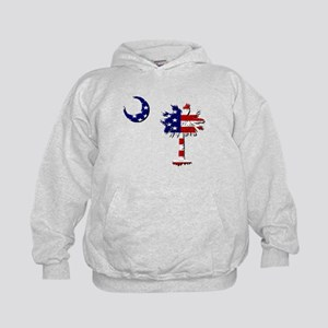 Red White and Blue Palmetto Kids Hoodie