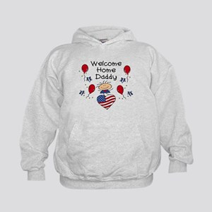 Welcome Home Daddy - Girl Kids Hoodie