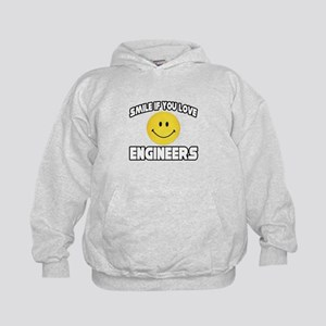 """Smile...Love Engineers"" Kids Hoodie"