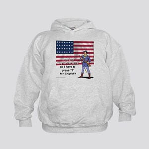 Press 1 for English Kids Hoodie