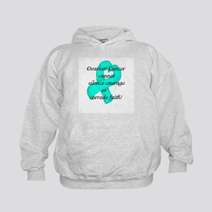 Ovarian Courage and Faith Kids Hoodie
