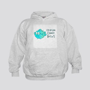 Ovarian Cancer Blows Kids Hoodie