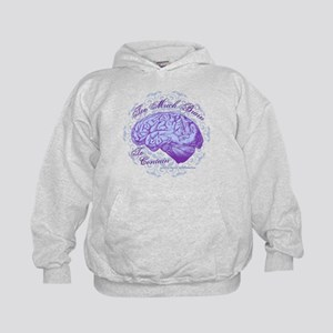 Too Much Brain to Contain Kids Hoodie