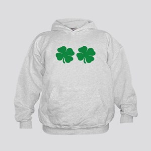 shamrock boobs Kids Hoodie