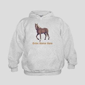 8a5eba06 Sweatshirts & Hoodies. Personalized Horse Kids Hoodie