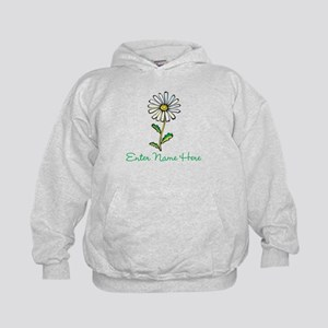 Personalized Daisy Kids Hoodie