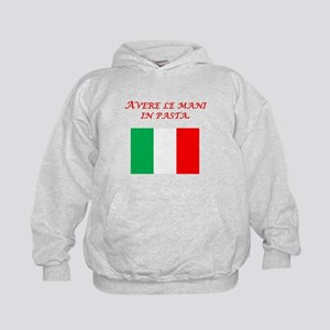 Italian Proverb Finger In The Pie Kids Hoodie