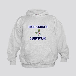 High School Survivor-Zombie-blue Hoodie