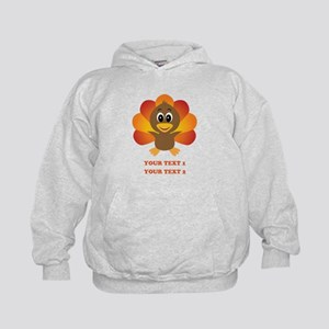 Personalized Baby Turkey Kids Hoodie