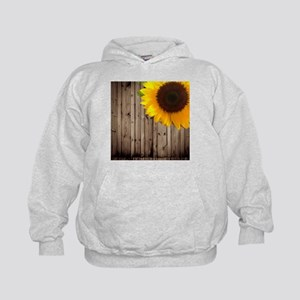 rustic barn yellow sunflower Sweatshirt