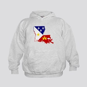 Acadiana State of Louisiana Kids Hoodie