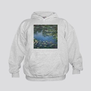 Waterlilies by Claude Monet Kids Hoodie