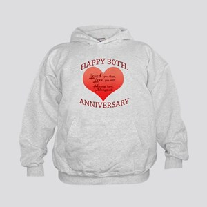 Happy 30th. Anniversary Kids Hoodie