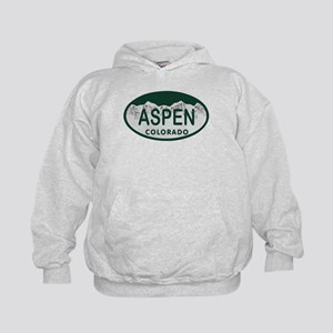 Aspen Colo License Plate Kids Hoodie