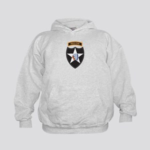 2nd Infantry Div with Recon T Kids Hoodie