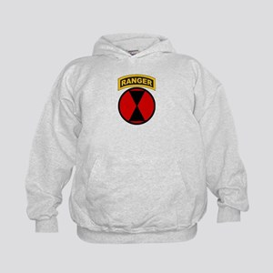 7th Infantry Div with Ranger Kids Hoodie