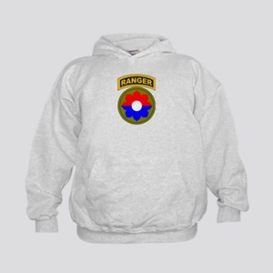 9th Infantry Div with Ranger Kids Hoodie