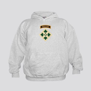 4th Infantry Div with Recon T Kids Hoodie