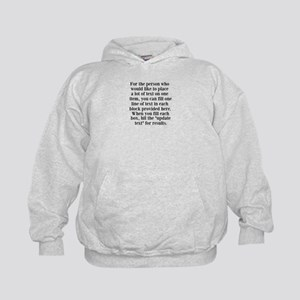 Lines of Text to Personalize Hoodie