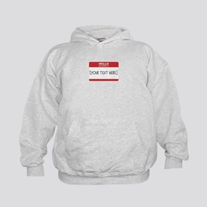 Name Tag Big Personalize It Hoodie
