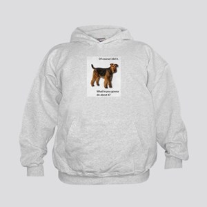Guilty Airedale Shows No Remorse Kids Hoodie