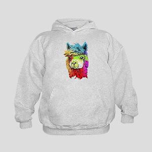 Color Me Alpaca Kids Hoodie