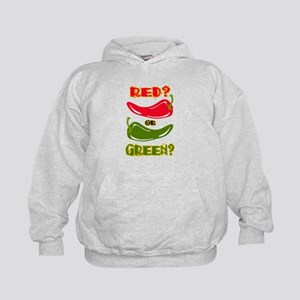 RED? OR GREEN? Kids Hoodie