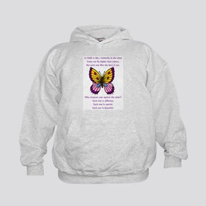 A Child Is Like a Butterfly-  Kids Hoodie