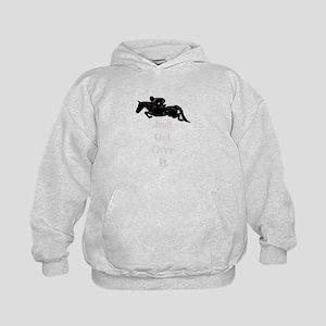 Just Get Over It Horse Jumper Kids Hoodie