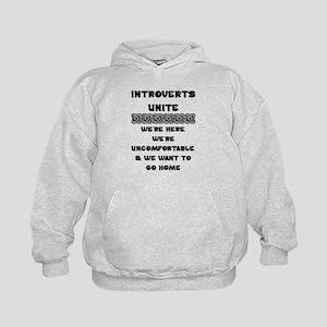 Introverts Unite Kids Hoodie