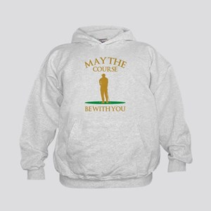 May The Course Be With You Kids Hoodie