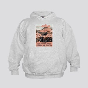 Vintage poster - Grand Canyon Kids Hoodie