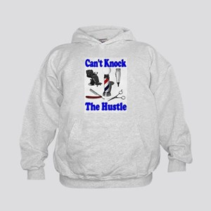 Cant Knock The Hustle-Blue Kids Hoodie