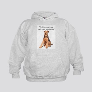 Airedales: Why you can't have nice thi Kids Hoodie