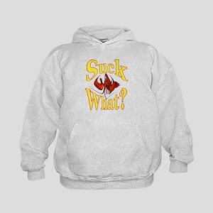 Suck What Crawfish Logo Kids Hoodie