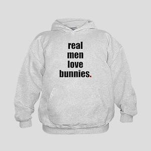 Real Men love bunnies Kids Hoodie