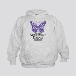 Alzhimers Butterfly 4 Kids Hoodie