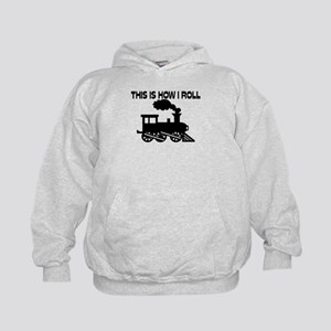 This Is How I Roll Train Kids Hoodie