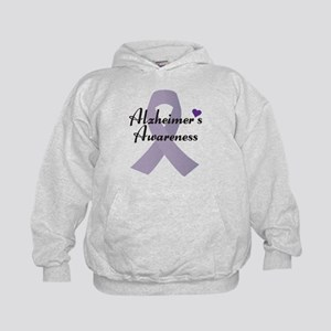 Alzheimers Awareness Ribbon Hoodie